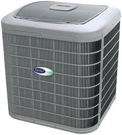 An outdoor Carrier air conditioner unit